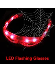 vulna (TM) Glow Party Club LED rojo Shades Light Up Party LED parpadeante intercambiables Shades Gafas