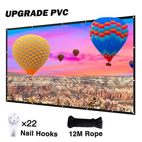NIERBO Beamer Leinwand Neues Upgrade PVC Hohe Sättigung Hochwertig Bildqualität 120 Zoll Projector Screen 16 9 4K 3D faltbar Projektor Leinwand 266×150cm