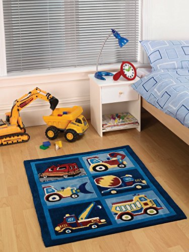 Kinder Teppich LKW Design Bunt Grösse 80X100cm