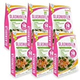 6 x Slendier Bio Konjak Nudeln | Glasnudel-Style | Kalorienarm | Shirataki | Quelle für Ballaststoffe |...