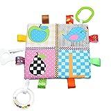 Toyvian Baby Sicherheitsdecken Weiche Tröster Handtuch Decke mit Bunte Taggies (Vogel und Birne)