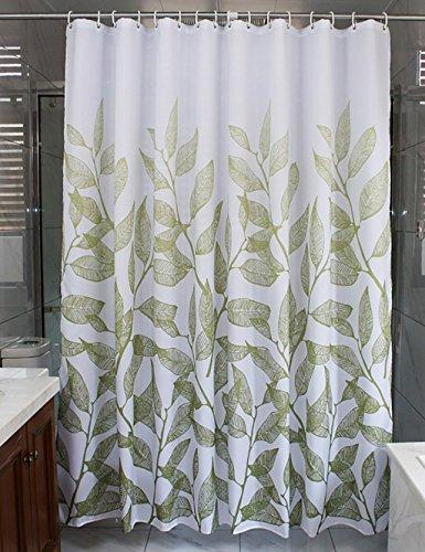 Badezimmer Duschvorhang Duschvorhänge wasserdicht Schimmel Abschneiden erhöhen Vorhang Schattierung nicht durch den Vorhang Vorhang aufhängen Haken oben Anti-statische Duschvorhang (Größe: 80*200cm)
