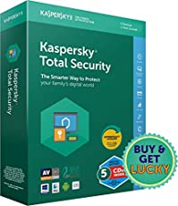 Kaspersky Total Security Latest Version- Multi Device- 5 Devices, 1 Year (CD)