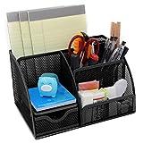 WINOMO Schreibtisch Organizer Tisch-Organiser Stifthalter Stifteköcher Stiftebox Mesh Briefpapier Container Veranstalter Caddy