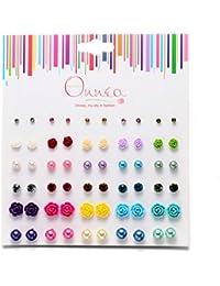 30 Paar mini Ohrstecker allergiefrei Ohrringe für Mädchen Damen Durchmesser 3-10mm
