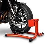 ConStands Easy Classic - Motorradwippe Aprilia RS4 125 Rot für Anhänger Transportständer Montageständer Vorderrad