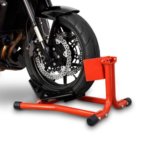 ConStands Easy Classic - Motorradwippe Hyosung GV 700 C Rot für Anhänger Transportständer Montageständer Vorderrad -