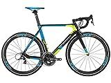 Bergamont Prime RS Team Carbon Rennrad schwarz/blau/gelb 2016: Größe: 53cm (169-174cm)