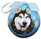 Siberian Husky Christmas Ornament Shatter Proof Ball Easy To Personalize A Perfect Gift For Siberian Husky Lovers