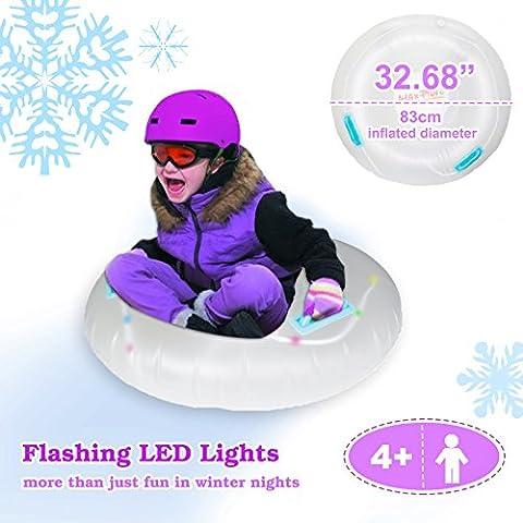 auto-vox 81,3cm LED éclairage gonflable Pipeline Snow Tube Luge pour