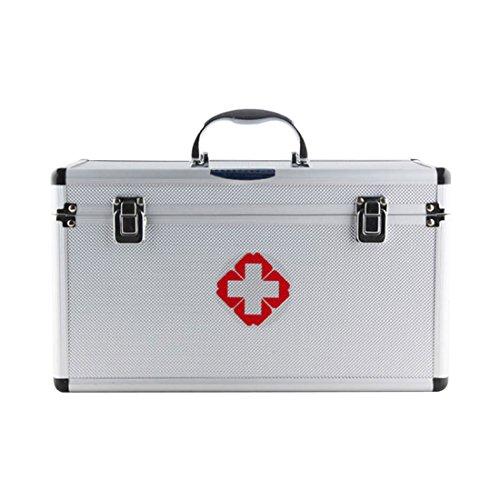 Medizinbox Abschließbar, Teckpeak Erste Hilfe Koffer Hausapotheke Medizin-Box -31×18 ×18,5cm