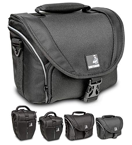 Bodyguard 5 * Sac pour Appareil Photo Reflex + 2 Objectifs - Nikon D800 D3200 D3300 D5100 D5200 D5300 D5500 D7000 D7100 D7200 Canon EOS 4000D 2000D 1300D 1200D 700D 750D 760D