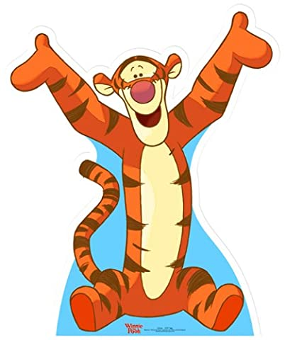 Life-sized cardboard cutout/standee of Tigger - Pooh's
