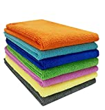#6: WipeWash 4 Pcs Pack of Car Cleaning Cloth Microfiber Multi Purpose Duster for Car, Home & Kitchen 40x40 cms (Mix Colors)