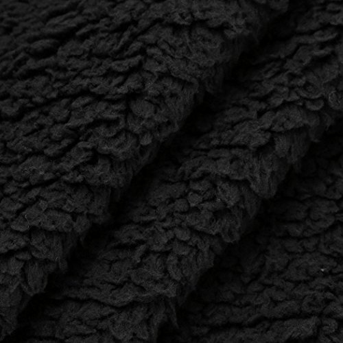 Rawdah Femmes Gilet Sans Manches à Capuche Doudoune Chaud Hoodie Outwear Manteau Casual Fausse Fourrure Zip Up Sherpa Veste En Peluche Pour Femmes Noir