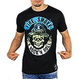 Fire Smoke & Rock´n Roll Feuerwehr Männer T-Shirt Gradient Edition, Größe:XL