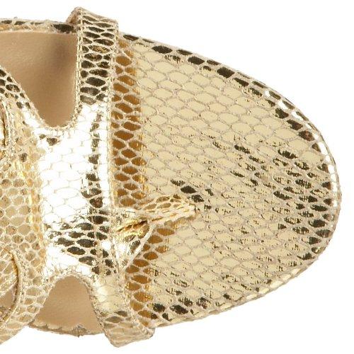 Römerin Kostüm Stiefel mit Schlangenmuster gold Gold Met Snake Pu