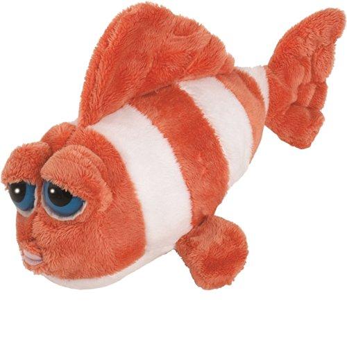 Suki Gifts Li'L Peepers Sealife Creatures Ringer Clown Fish Soft Boa Plush Toy (Orange/ White)