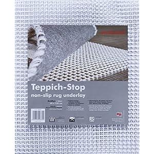 Teppich-Stop Antirutschmatte Teppichgleitschutz Teppichunterlage Haftgitter Rutschschutz, PVC beschichtetes Polyester…