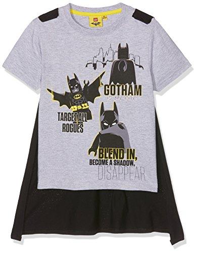 Shirt mit Cape Lego Batman, Grau (Hellgrau Melange), 140 (Jungen-t-shirt Mit Cape)
