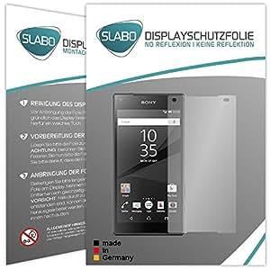 """2 x Slabo Displayfolie für Sony Xperia Z5 Compact Displayschutzfolie Zubehör """"No Reflexion"""" MATT - MADE IN GERMANY"""