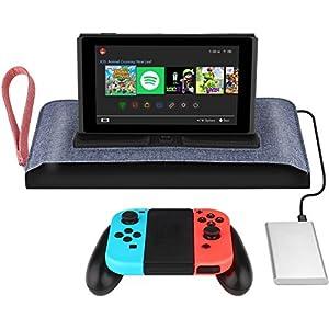 Simptech Nintendo Switch Carry Bag/Case, perfektes Design für ein jederzeit mögliches Laden und Spielen, integrierte Ladestation, Game Pocket für 7 Game Cards