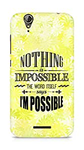 AMEZ Nothing is Impossible Back Cover For Acer Z630S