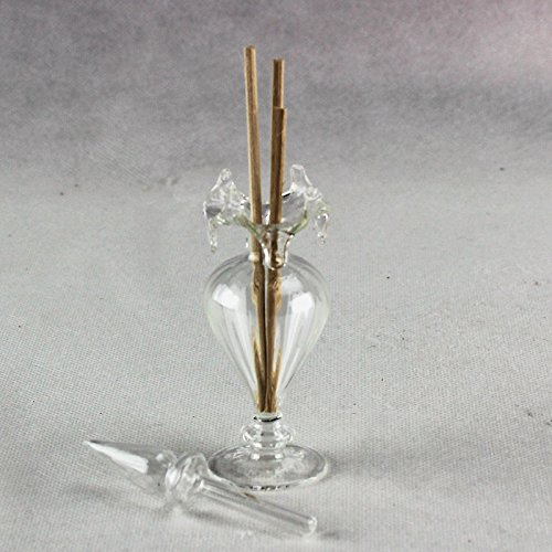 Dlm26239 kit 12 pezzi profumatore bottiglia porta profumo trasparente vetro soffiato w010b bomboniera