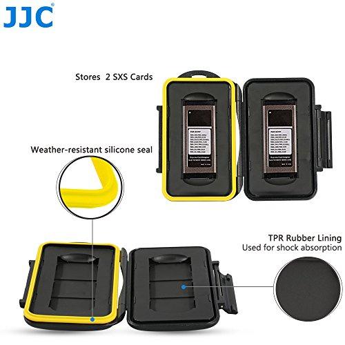 JJC Multi Memory Card Case MC-SXS2 Speicherkarten Schutzbox für 2 Stück SXS Cards- extreme Wasserdicht und Stoßfest Box Safe Tasche Etui Aufbewahrungsbox Hülle (Wasserdicht Card Memory Case)