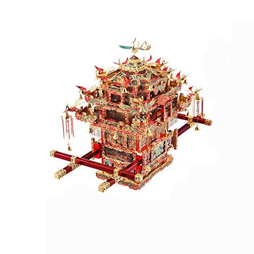 JIE. 3D dreidimensionales Puzzle Metall zusammengesetztes Modell Phoenix Crown DIY handgefertigtes Spielzeug - hoher Schwierigkeitsgrad