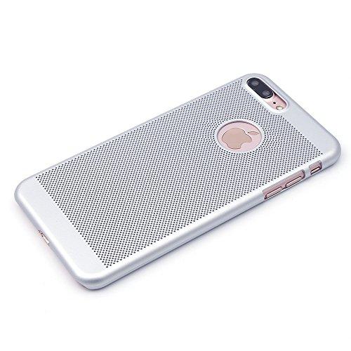 "iProtect Apple iPhone 7 Coque Rigide en Design ""Toile"" en doré IP 7 Plus - argent"