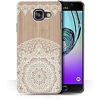 Coque de Stuff4 / Coque pour Samsung Galaxy A3 (2016) / Mandala Bambou Design / Bois Dentelle Fine Collection