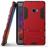 Funda para Xiaomi Mi Note 2 (5,7 Pulgadas) 2 en 1 Híbrida Rugged Armor Case Choque Absorción Protección Dual Layer Bumper Carcasa con pata de Cabra (Rojo)