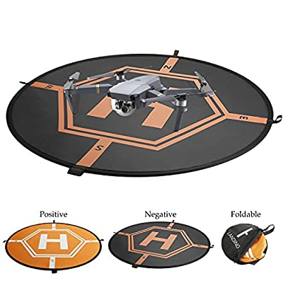 AttoPro Universal Drone Landing Pad, Fast-Fold RC Quadcopter Helicopter Protective Apron Helipad for DJI Mavic Pro, Phantom 2/3/4/4 Pro, Inspire 2/1, 3DR Solo, GoPro Karma, Parrot, Syma