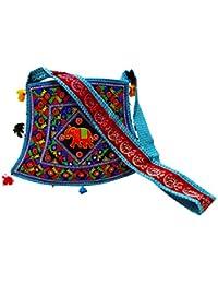 kalra Creations Zapatos de seda india tradicional con bordado Casual para hombre, color Rojo, talla 39.5 EU