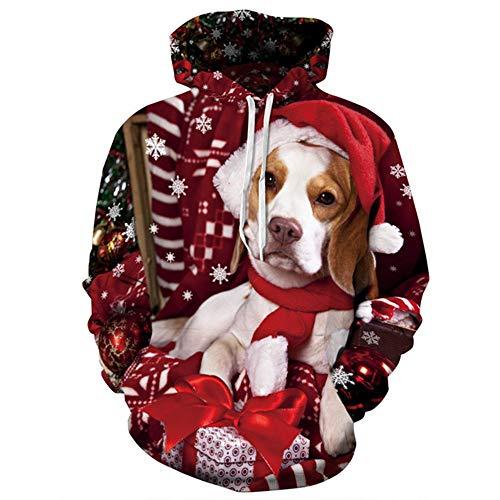 JING Weihnachtskleidung, Gedruckt Mit Weihnachtsliedern, Die Baseball-Kostüm Ist,XXXL