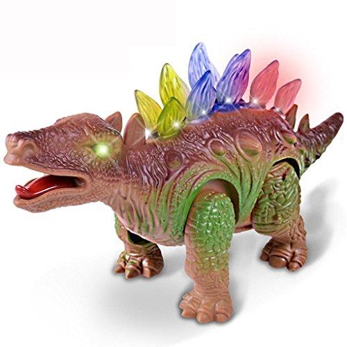 Dinosaurier Walking Wirbelsäule / Augen Leuchten Roboter Upxiang Glühende Dinosaurier Elektrische Stegosaurus (Walk Forward und Roar) Kinder Interaktive Dino (Stegosaurus Kostüm Kind)