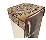 #10: Digital Printed Refrigerator Top Cover or Fridge Cover - 6 Pocket/Storage Cover Made of Durable JUTE PVC Size 23 Inch x 39 Inch