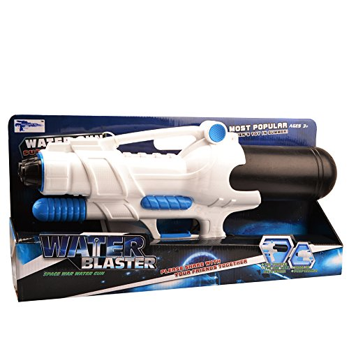 Doppeldüsen Wasserpistole Super soaker - Wishtime BN16009 (2017 Neues Design) wasserpistole mit großer reichweite und tank für Kinder, am beliebtesten Sommer Strand- und Garten spielzeug