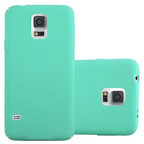 Preisvergleich Produktbild Cadorabo Hülle für Samsung Galaxy S5 / S5 NEO - Hülle in Frosty GRÜN – Hardcase Handyhülle im matten Frosty Design - Schutzhülle Bumper Back Case Cover