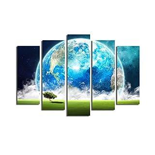 Asir Group LLC 5PATK-163 Horizon Dekorativ Leinwand Malerei, bunt