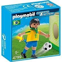 Playmobil Fútbol - Fútbol: jugador Brasil (4799)