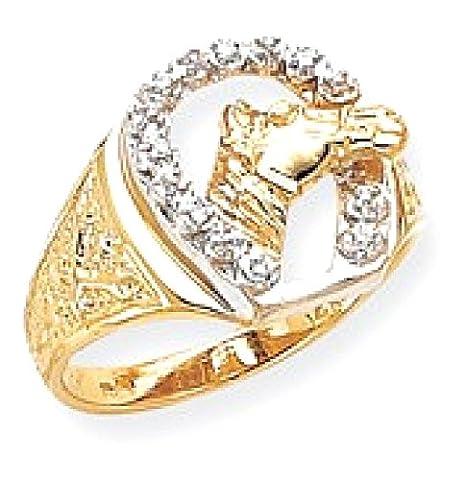 IceCarats 14k Yellow Gold Diamond Mens Band Ring Size 10.00