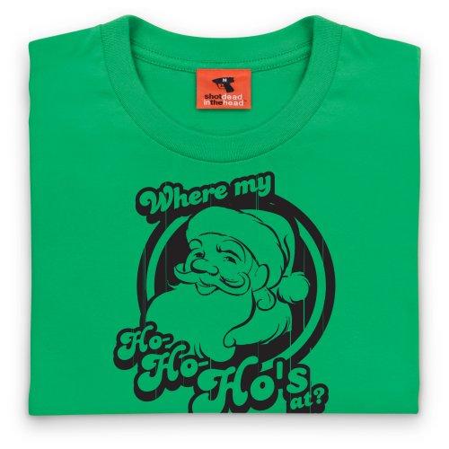 Ho Ho Ho's OG Christmas T-Shirt, Herren Keltisch-Grn