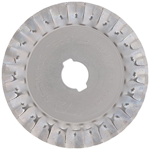 Prym Ersatzklinge für Rollschneider Zacken 45 mm, Edelstahl, Silber