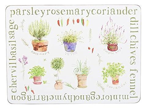 Creative Tops quotidienne Home Tapis de plantes aromatiques, Vert, 4pièces