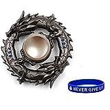 metal-fidget-spinner-design-hand-spinner mit Armband - von