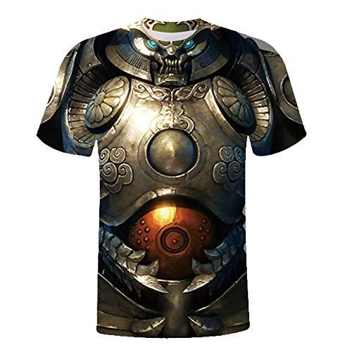 Herren 3D Grafik Drucken T-Shirts Lustiges Muster Shirt Oversize Vintage Pullover Kurze Ärmel Kurzarm Tops Slim Fit Kurzarmshirt Muskel Shirts Party Kostüm Rundhals Tops
