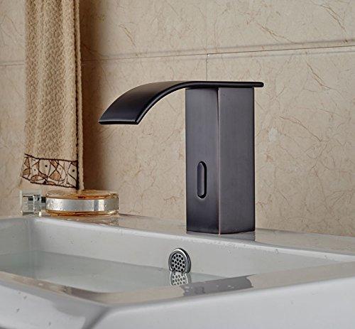 tougboo Olio strofinato broze becco a cascata per lavabo bagno rubinetto sensore automatico rubinetto rubinetto