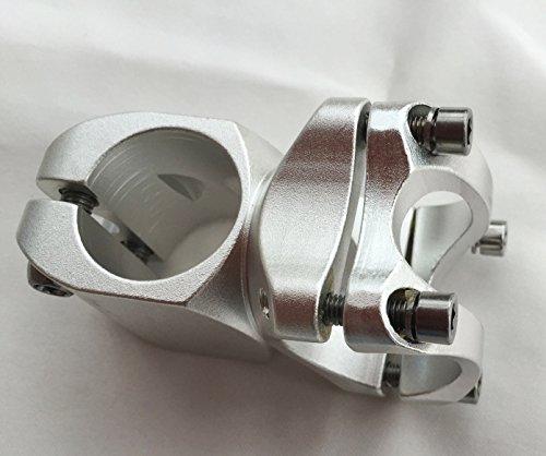 CarbonEnmy Schön Alu Vorbau, 32mm Länge, 31,8mm, 7°, für Fixie/Singlespeed (Silber) -